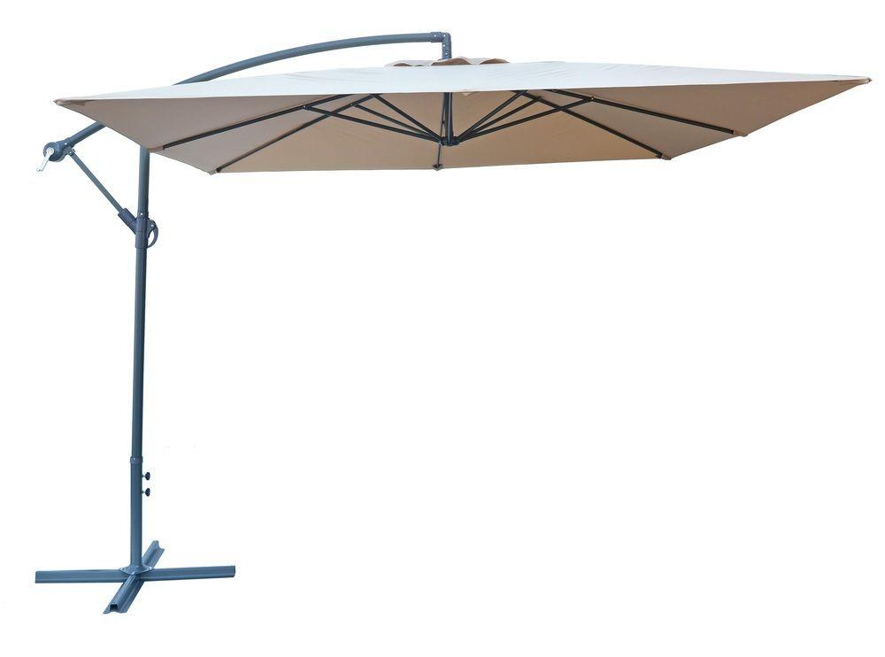 Slunečník kovový NEPROMOKAVÝ 8080 - 270x270cm - béžový Rojaplast - vše pro venkovní posezení na zahradě a na terase