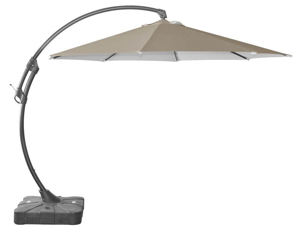 Slunečník BANANA ø330cm - béžový Rojaplast - vše pro venkovní posezení na zahradě a na terase