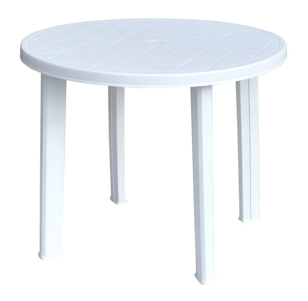 TONDO stůl - bílý ProGarden - vše pro venkovní posezení na zahradě a na terase