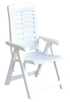 YUMA polohovací křeslo - bílá ProGarden - vše pro venkovní posezení na zahradě a na terase