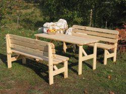 Zahradní sestava VIKING 150 přírodní Rojaplast - vše pro venkovní posezení na zahradě a na terase