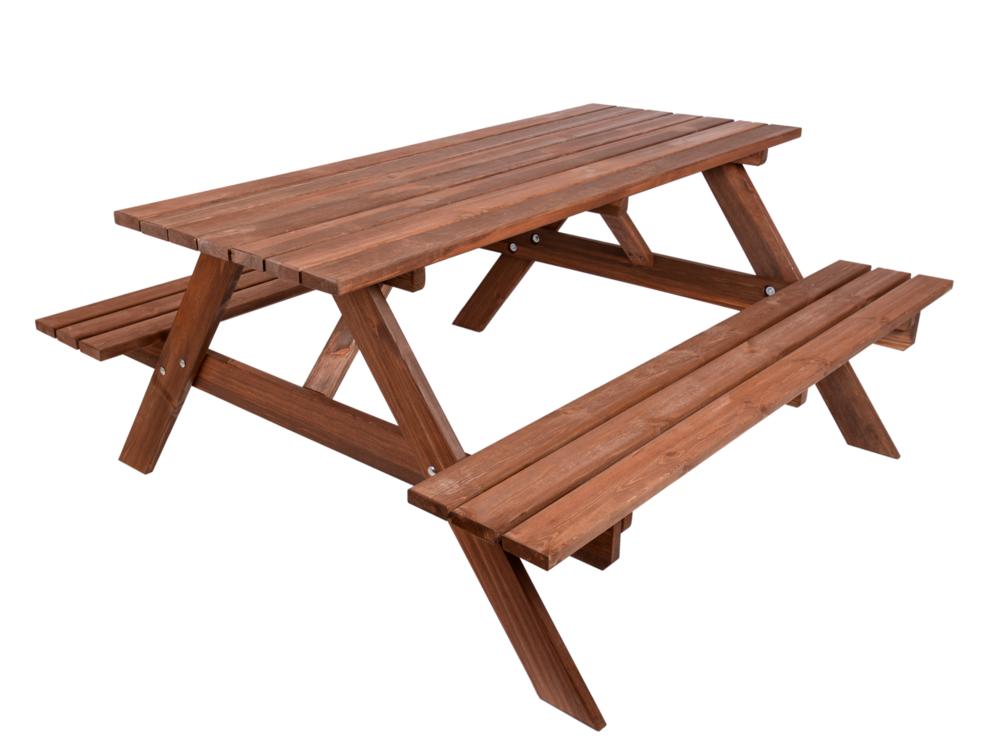 Zahradní pivní set dřevěný 200 cm Rojaplast - vše pro venkovní posezení na zahradě a na terase