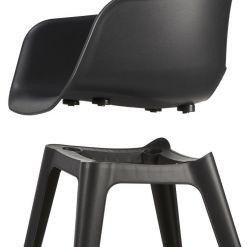Jídelní židle Akola cup antracit - vše pro venkovní posezení na zahradě a na terase