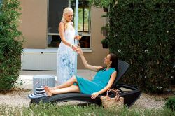 ATLANTIC zahradní lehátko - antracit Keter - vše pro venkovní posezení na zahradě a na terase