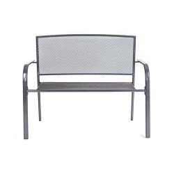 Lavička zahradní ocelová GARDE 106 x 88 x 58,5 cm Happy Green - vše pro venkovní posezení na zahradě a na terase