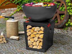 Ohniště s grilem SANTOS Cookking - vše pro venkovní posezení na zahradě a na terase