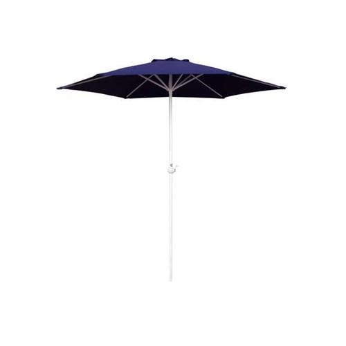 Slunečník kulatý s kličkou 230 cm, tmavě modrá Happy Green - vše pro venkovní posezení na zahradě a na terase
