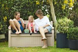 Zahradní lavice EDEN s úložným prostorem Keter - vše pro venkovní posezení na zahradě a na terase