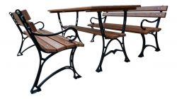 Zahradní nábytek, který vydrží dlouhá léta - kombinace ocel a dřevo - RB Garden - 1855363 -