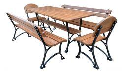Zahradní nábytek, který vydrží dlouhá léta - kombinace ocel a dřevo - RB Garden - 1855364 -