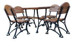Zahradní nábytek, který vydrží dlouhá léta - kombinace ocel a dřevo - RB Garden - 1855366 -
