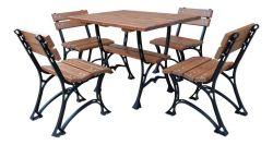 Zahradní nábytek, který vydrží dlouhá léta - kombinace ocel a dřevo - RB Garden