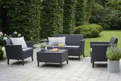 Zahradní sedací set SALEMO grafit Allibert - vše pro venkovní posezení na zahradě a na terase