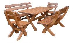 Zahradní sestava dřevěný masiv Z-01 Rojaplast - vše pro venkovní posezení na zahradě a na terase