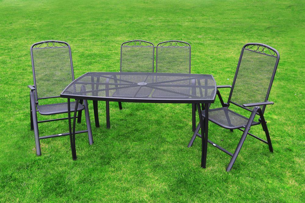 Kovový set zahradního nábytku ZWM-02 Rojaplast - vše pro venkovní posezení na zahradě a na terase