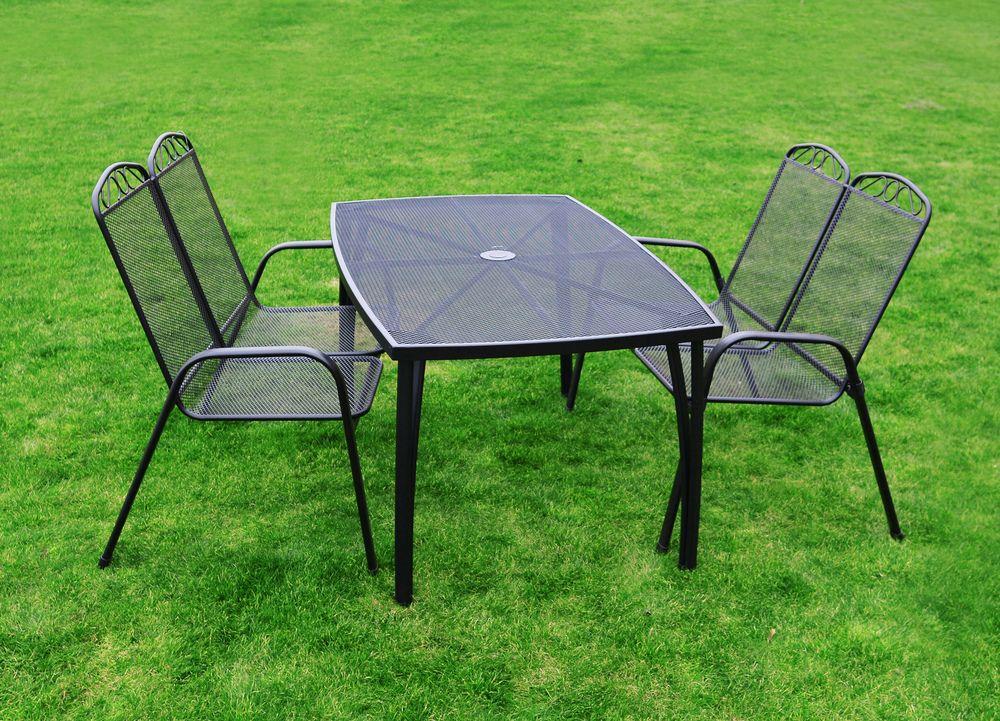 Kovový set zahradního nábytku ZWM-03 Rojaplast - vše pro venkovní posezení na zahradě a na terase