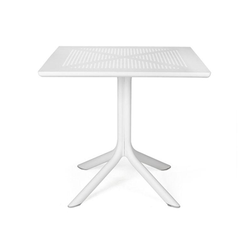 Nardi Clip 80 bílá, stůl venkovní - vše pro venkovní posezení na zahradě a na terase