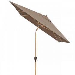 Slunečník Alu Wood 300x200 cm greige Doppler - vše pro venkovní posezení na zahradě a na terase
