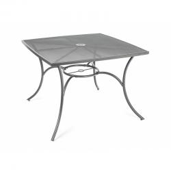 Stůl zahradní ocelový čtvercový MAINE 100 x 100 cm