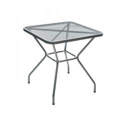 Stůl zahradní ocelový čtvercový MAINE 70 x 70 cm