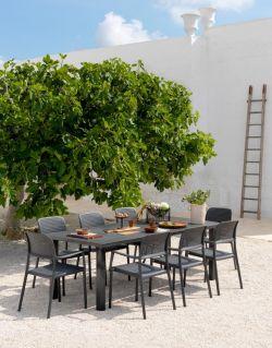 Venkovní křesílko Nardi Bora antracitová - vše pro venkovní posezení na zahradě a na terase