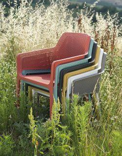 Venkovní křeslo Net relax antracitová Nardi - vše pro venkovní posezení na zahradě a na terase