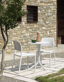 Venkovní židle Nardi Bora bílá - vše pro venkovní posezení na zahradě a na terase