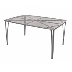 Zahradní stůl kovový 150 x 90 cm Happy Green - vše pro venkovní posezení na zahradě a na terase