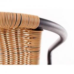 Zahradní židle kovová ratan světlý Happy Green - vše pro venkovní posezení na zahradě a na terase
