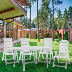 ARUBA polohovací křeslo - bílé Allibert - vše pro venkovní posezení na zahradě a na terase