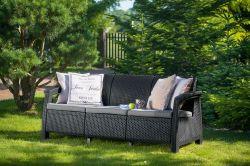 CORFU LOVE SEAT MAX - antracit Allibert - vše pro venkovní posezení na zahradě a na terase