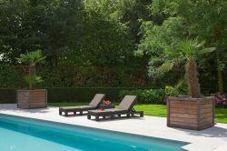 DAYTONA lehátko - hnědé Allibert - vše pro venkovní posezení na zahradě a na terase
