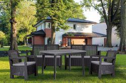 ELISE stůl - grafit Allibert - vše pro venkovní posezení na zahradě a na terase