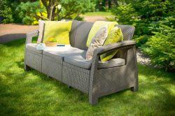 CORFU LOVE SEAT MAX - cappuchino Allibert - vše pro venkovní posezení na zahradě a na terase