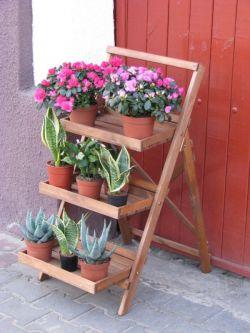 Květináč schůdkový - hnědý Rojaplast - vše pro venkovní posezení na zahradě a na terase