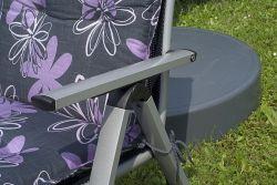 LONDON poloh. křeslo - stříbrné+černé Sun_garden - vše pro venkovní posezení na zahradě a na terase