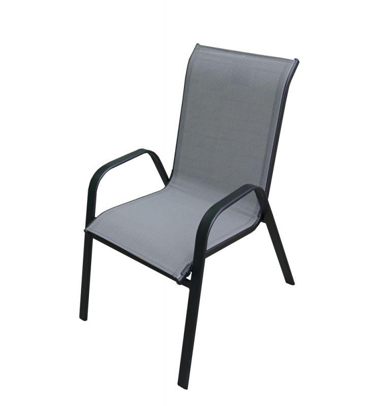 Křeslo XT1012C (ZWC-2429) - šedá textilie Rojaplast - vše pro venkovní posezení na zahradě a na terase