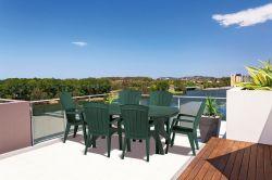 SANTORINI křeslo - tmavě zelené Allibert - vše pro venkovní posezení na zahradě a na terase