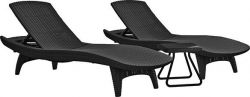 Zahradní set lehatka PACIFIC grafit + stolek