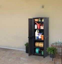 skříňka RATTAN STYLE TALL SHED Keter - vše pro venkovní posezení na zahradě a na terase