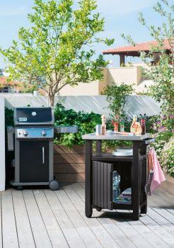 UNITY 105L stůl grafit Keter - vše pro venkovní posezení na zahradě a na terase