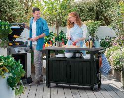 UNITY XL 207L stůl grafit Keter - vše pro venkovní posezení na zahradě a na terase