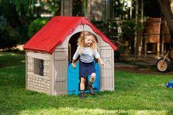 FOLDABLE PLAYHOUSE - béžový Keter - vše pro venkovní posezení na zahradě a na terase