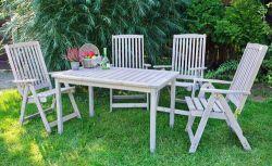 HOLIDAY křeslo - šedé Rojaplast - vše pro venkovní posezení na zahradě a na terase