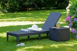 JAIPUR lehátko - cappucino Allibert - vše pro venkovní posezení na zahradě a na terase