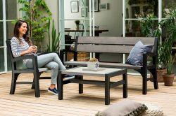 Lavice WLF 3 seaters (MONTERO) Keter - vše pro venkovní posezení na zahradě a na terase