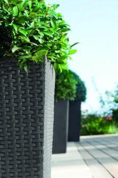 Rattan planter L Keter - vše pro venkovní posezení na zahradě a na terase