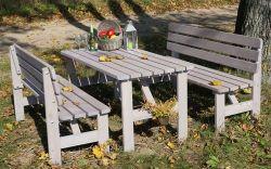 VIKING lavice ŠEDÁ - 150 cm Rojaplast - vše pro venkovní posezení na zahradě a na terase