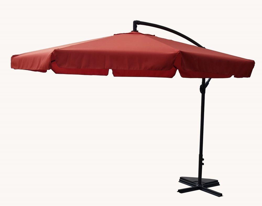 Slunečník EXCLUSIVE NEPROMOKAVÝ boční - terracota Rojaplast - vše pro venkovní posezení na zahradě a na terase